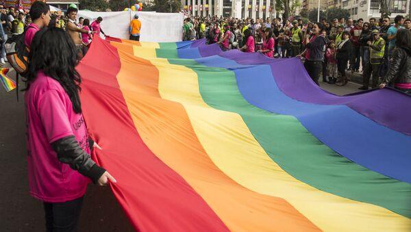 Marcha LGBT en Bogotá - Sputnik Mundo