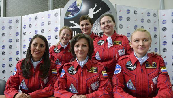 Miembras del simulacro de misión femenina a la Luna - Sputnik Mundo