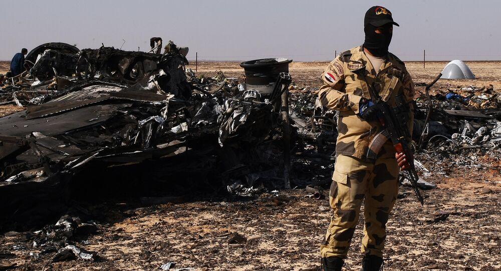 Lugar del siniestro del Airbus A321 ruso en Egipto