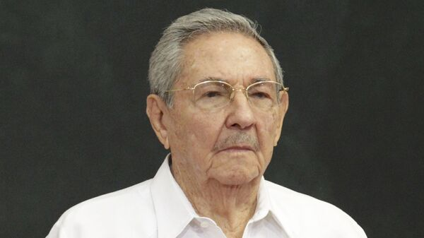 Cuba's President Raul Castro attends an official welcoming ceremony for him, at the Yucatan State Government Palace in Merida, Mexico - Sputnik Mundo