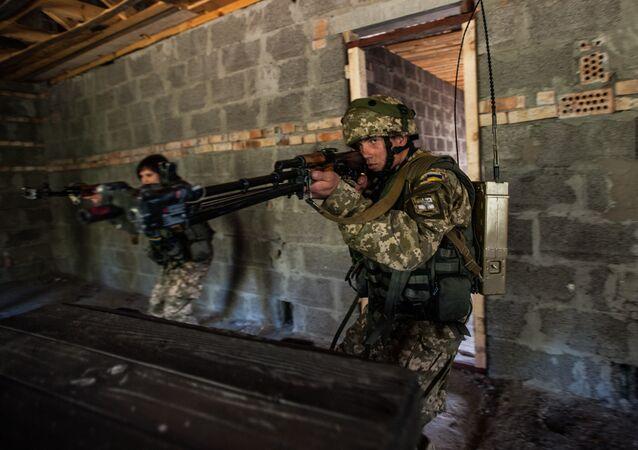 Marinos ucranianos durante los ejercicios
