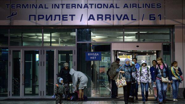 Turistas rusos llegan de Egipto - Sputnik Mundo