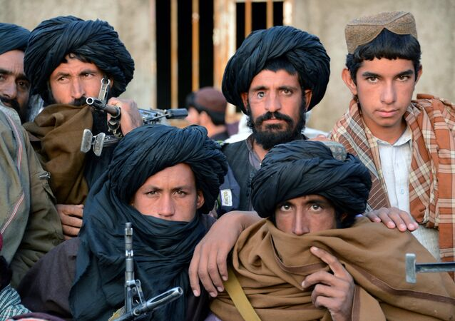 Combatientes de Talibán en Afganistán
