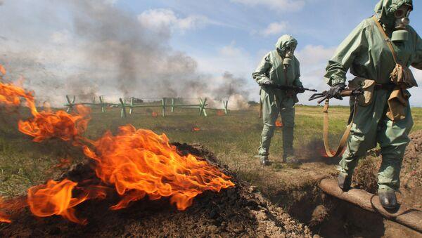 Simulacro de ataques con armas químicas en Rusia - Sputnik Mundo