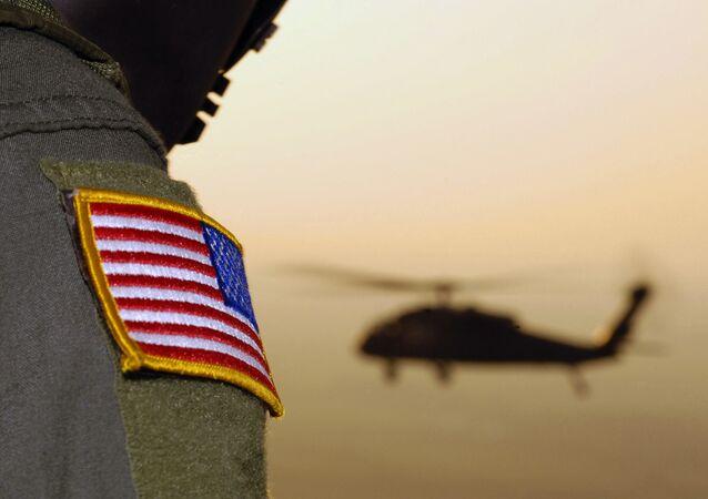 Un soldado de las Fuerzas Armadas de los EEUU