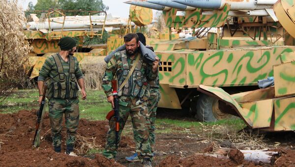 Soldados de ejército sirio - Sputnik Mundo