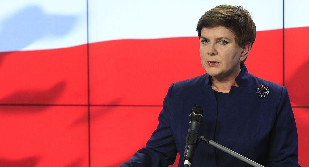 Beata Szydlo, primera ministra polaca (archivo)