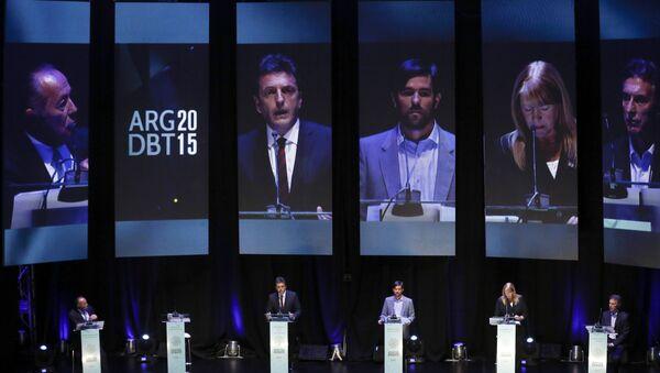 Debate presidencial en Argentina (Archivo) - Sputnik Mundo
