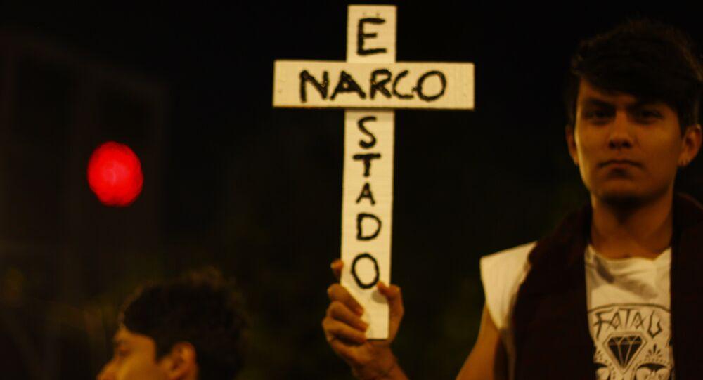 Protesta en Ayotzinapa, Guerrero