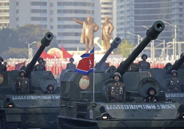 Desfile militar en Pyongyang, Corea del Norte
