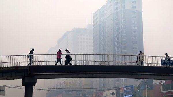 Aire contaminado en la ciudad de Shenyang, China - Sputnik Mundo