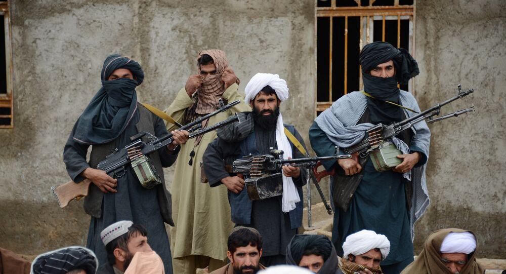 Los combatientes del grupo Talibán en Afganistán