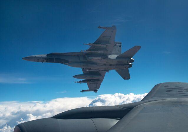 Aviones de la coalición antiterrorista liderada por EEUU en Irak (archivo)