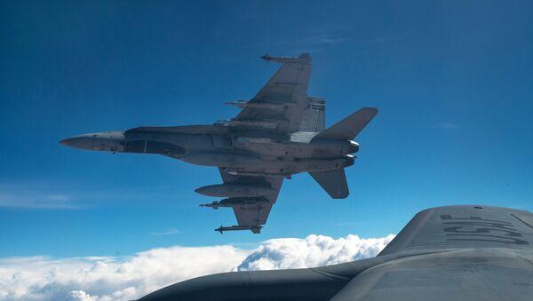 Aviones de la coalición antiterrorista liderada por EEUU en Irak (archivo) - Sputnik Mundo
