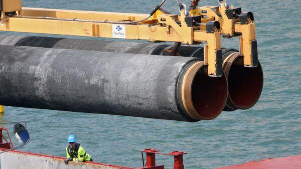 Construcción de una sección del gasoducto Nord Stream - Sputnik Mundo