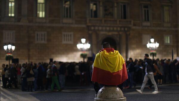 Manifestación a favor de la integridad de España en Barcelona - Sputnik Mundo
