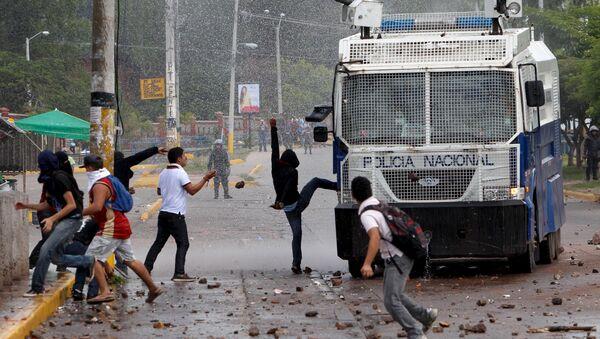Protesta en Honduras (archivo) - Sputnik Mundo