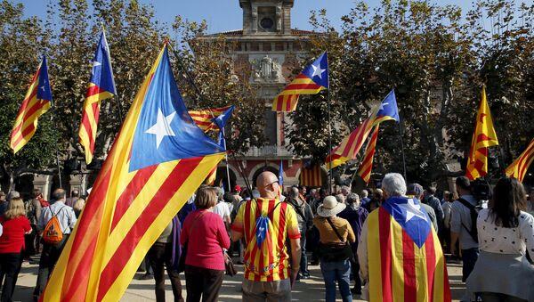 Soberanistas catalanes - Sputnik Mundo
