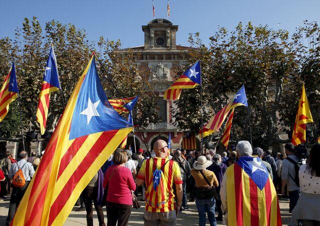 Partidarios del separatismo catalán