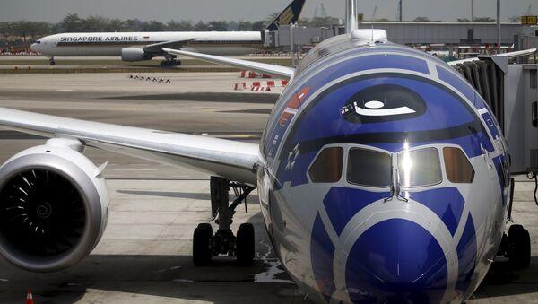 El avión en el aeropuerto - Sputnik Mundo