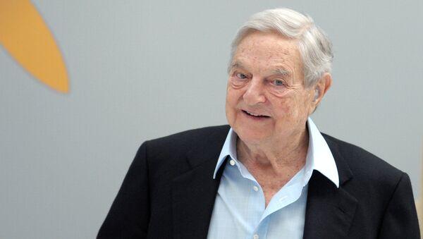 Hungarian-born US chairman of the Soros Fund Management, George Soros - Sputnik Mundo