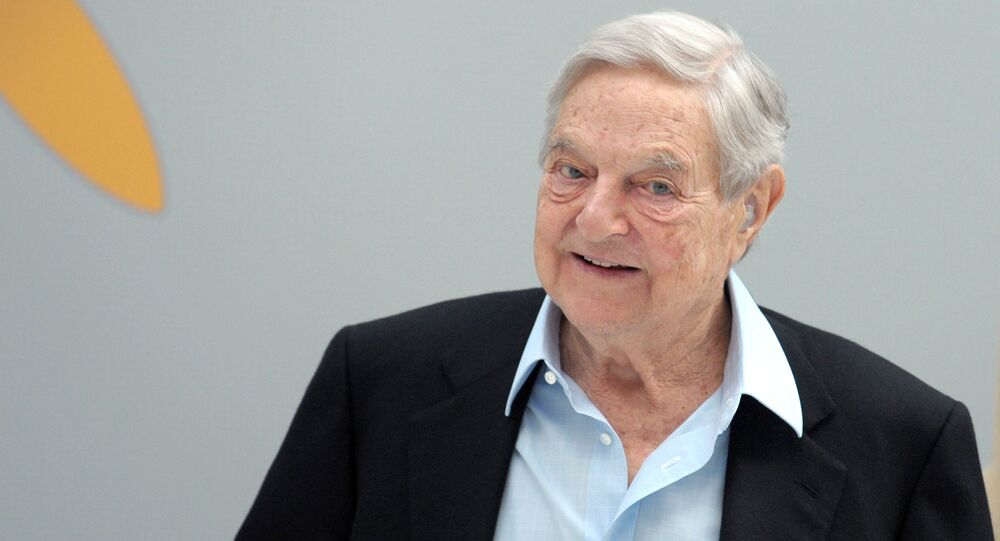 Hungarian-born US chairman of the Soros Fund Management, George Soros