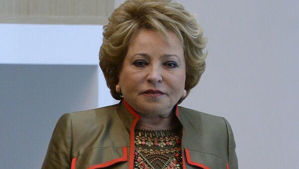 Valentina Matvienko, presidenta del Consejo de Federación de Rusia - Sputnik Mundo