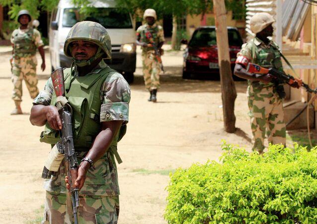 Soldados nigerianos (archivo)