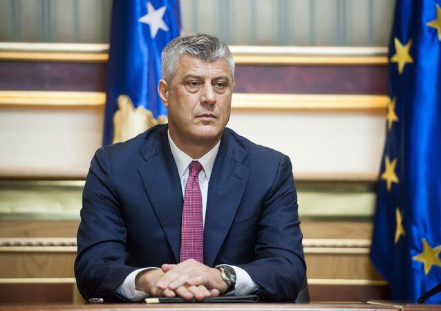 Hashim Thaci, presidente de la autoproclamada República de Kosovo (archivo)