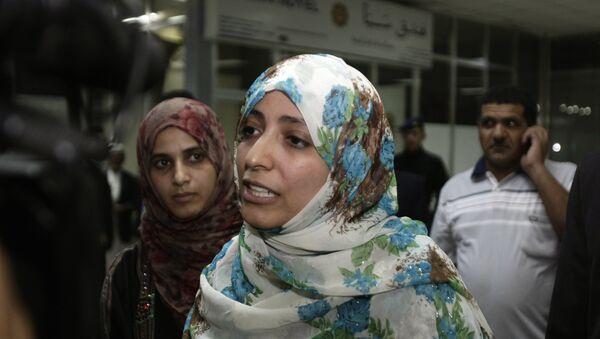 Tawakkul Karman, la premio Nobel de la Paz en 2011 - Sputnik Mundo