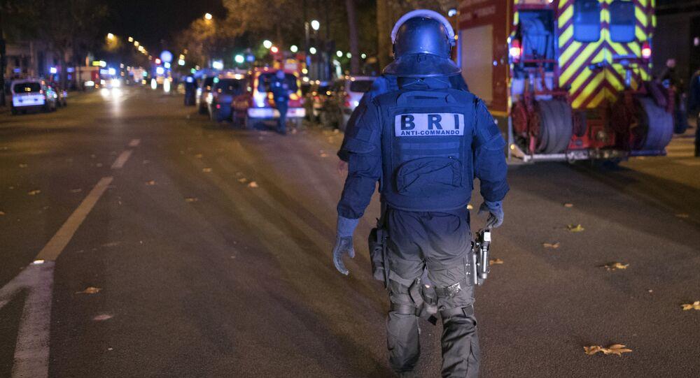 Lugar del atentado en París