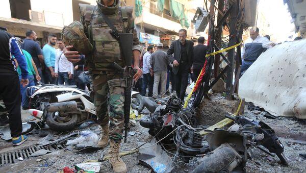Lugar del atentado en Beirut - Sputnik Mundo
