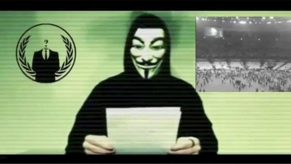 Un hacker del grupo Anonymous - Sputnik Mundo