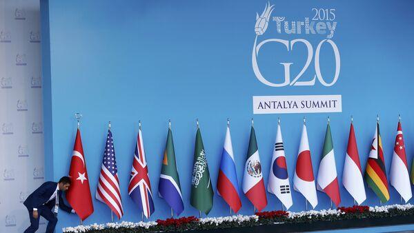 Logo de la Cumbre del G20 en Antalia - Sputnik Mundo