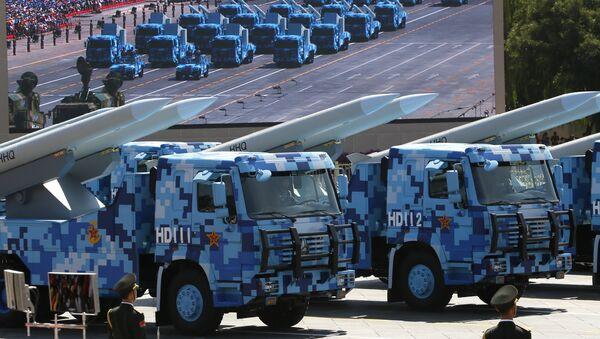 HHQ chino durante el desfile militar en Beijing - Sputnik Mundo