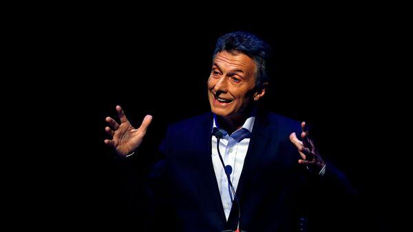 Candidato presidencial Mauricio Macri durante los debates electorales con Daniel Scioli - Sputnik Mundo