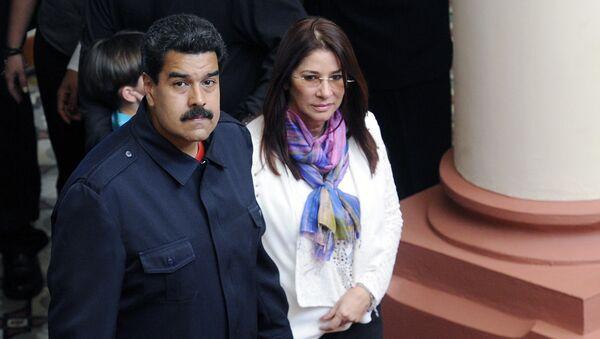 Presidente de Venezuela, Nicolás Maduro, con su mujer, Cilia Flores - Sputnik Mundo