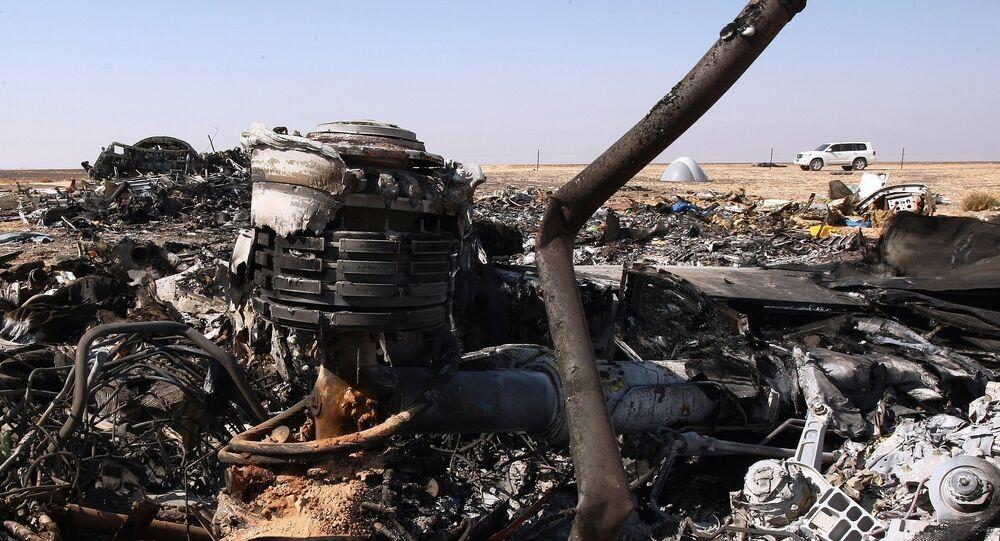El lugar del siniestro del avión ruso A321 en el Sinaí