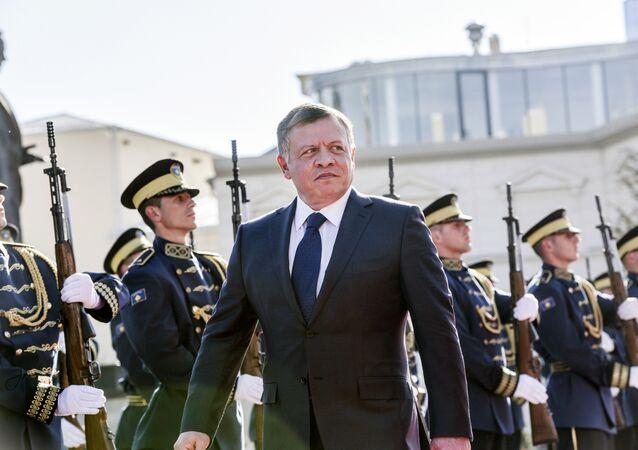 Rey de Jordania Abdalá II durante su visita a Kósovo