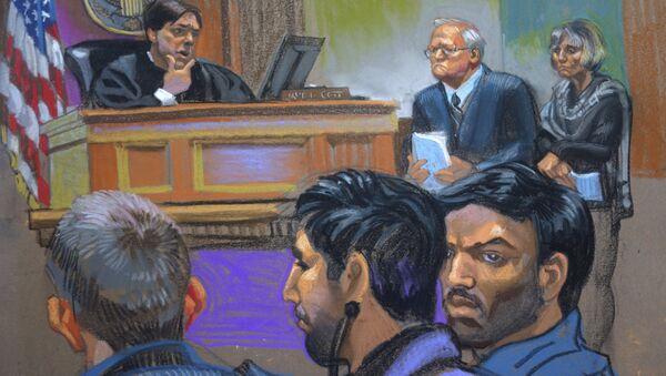 Croquis del juicio de Efraín Antonio Campo Flores y Francisco Flores de Freitas - Sputnik Mundo