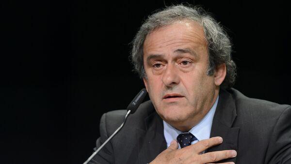 Michel Platini, presidente de la UEFA - Sputnik Mundo