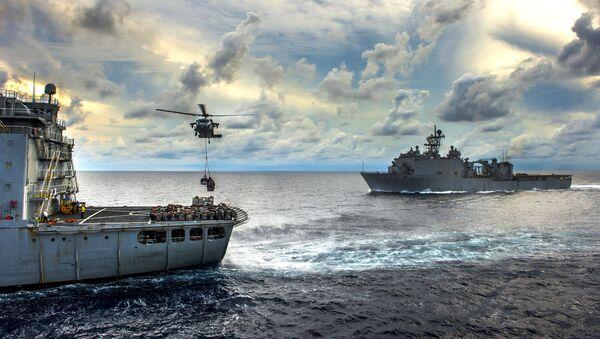 Buques de la Armada de EEUU en el mar de China Meridional - Sputnik Mundo