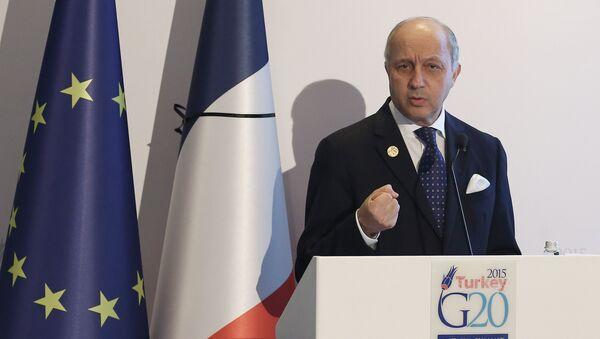 Laurent Fabius, ministro de Exteriores de Francia - Sputnik Mundo