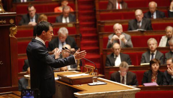Sesión de la Asamblea Nacional francesa sobre el estado de emergencia - Sputnik Mundo