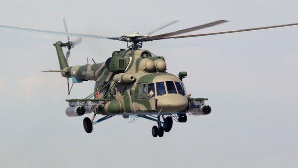Helicóptero polivalente Mi-8, habitualmente utilizado para trasladar cargos en Siria - Sputnik Mundo