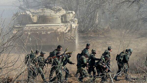 Soldados del Ejército sirio (imagen referencial) - Sputnik Mundo