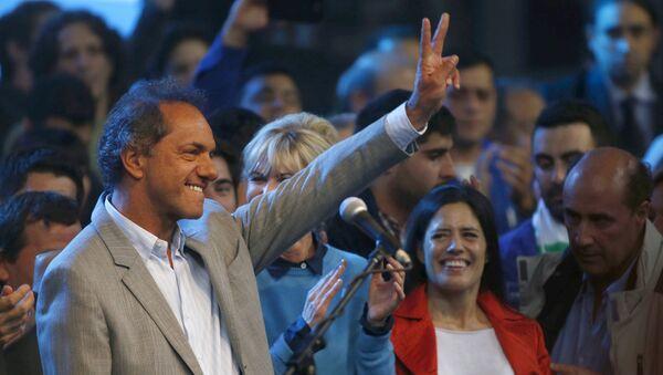 Daniel Scioli, candidato oficialista  a la presidencia argentina - Sputnik Mundo