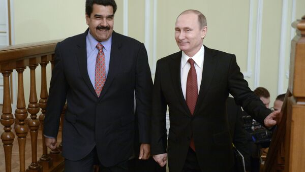 Vladímir Putin, presidente de Rusia, y Nicolás Maduro, presidente de Venezuela - Sputnik Mundo