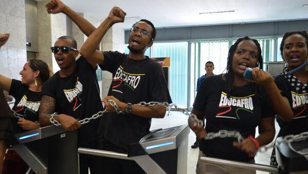 Estudiantes del movimiento Educafro en Brasil - Sputnik Mundo