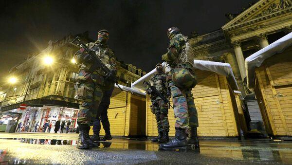 Soldados belgas en Bruselas - Sputnik Mundo